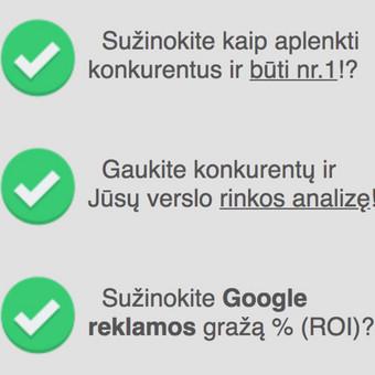 Google reklama / Google Reklama / Darbų pavyzdys ID 454829