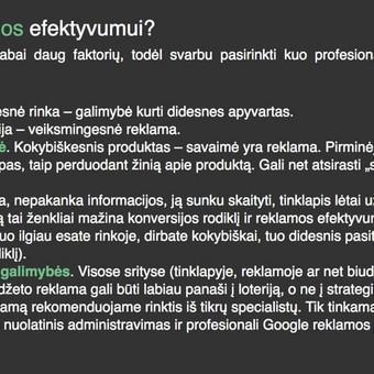 Google reklama / Google Reklama / Darbų pavyzdys ID 454903