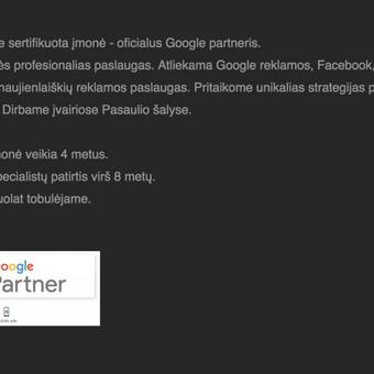 Google reklama / Google Reklama / Darbų pavyzdys ID 454919