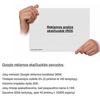 Google reklama / Google Reklama / Darbų pavyzdys ID 454927