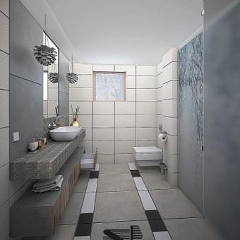 Vonios interjero vizija Šveicarams