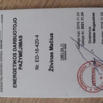 Elektrikas į namus Klaipėdoje / Žilvinas Mačius / Darbų pavyzdys ID 458363
