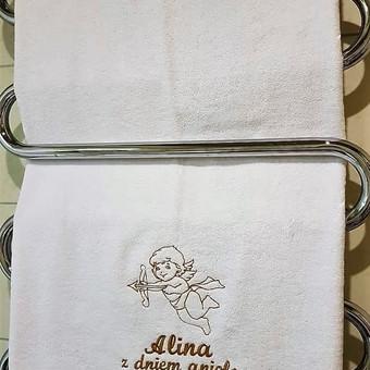 Siuvinėtas rankšluostis. Puiki dovana