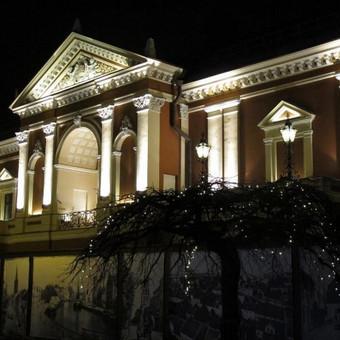 Klaipėdos dramos teatro fasado apšvietimas.