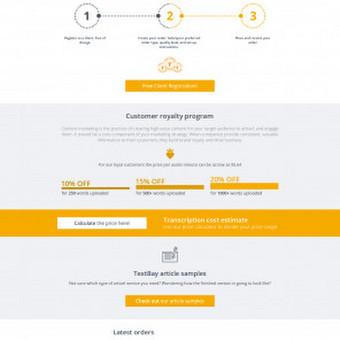 TextRoyal.com svetainės dizainas www.textroyal.com