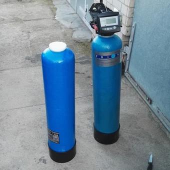 Trūkusi minkštinimo filtro kolona keičiama nauja.