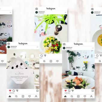 Postų dizainas socialinėse platformose.