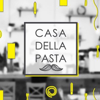 Logo for CASA DELLA PASTA Italian restaurant.