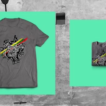 Lithuanian Hip hop marškinėlių dizainas.