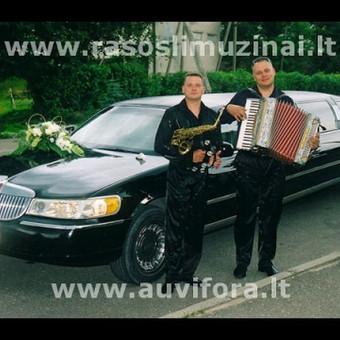Vokalas, saksofono, trimito, akordeono muzika. Lietuviskos, rusiskos, angliskos dainos.