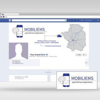 Logotipo kūrimas, Facebook cover'io kūrimas.