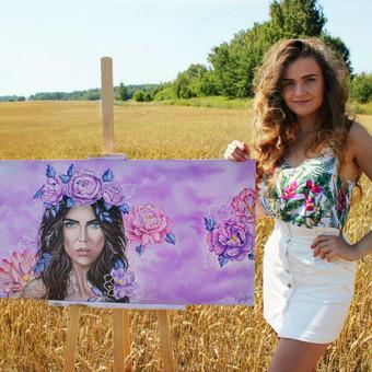 Portretų piešimas, paveikslų tapyba. / Sandra Stalmokaitė / Darbų pavyzdys ID 484243