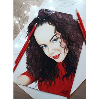 Portretų piešimas, paveikslų tapyba. / Sandra Stalmokaitė / Darbų pavyzdys ID 484245