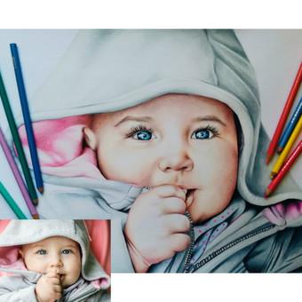 Portretų piešimas, paveikslų tapyba. / Sandra Stalmokaitė / Darbų pavyzdys ID 484255