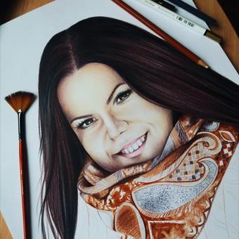 Portretų piešimas, paveikslų tapyba. / Sandra Stalmokaitė / Darbų pavyzdys ID 484263