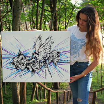 Portretų piešimas, paveikslų tapyba. / Sandra Stalmokaitė / Darbų pavyzdys ID 484269