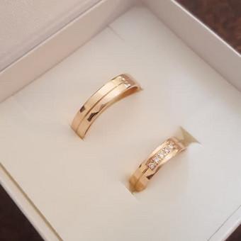 Vestuviniai ziedai su 0,075 ct. deimantais 480€