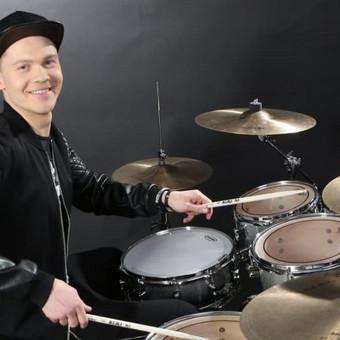 Būgnų pamokos su profesionaliu būgnininku / Jonas Lengvinas / Darbų pavyzdys ID 495115