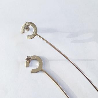 Balto aukso auskarai nuotakai