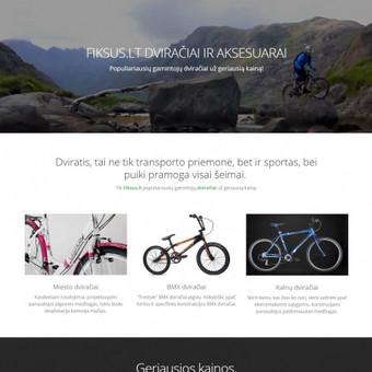 Landing page. Demo: http://gerasdviratistau.lt