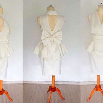 Individualiai sukurtas nuotakos kostiumėlis