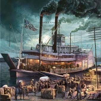 Amerikiečių garlaivis.