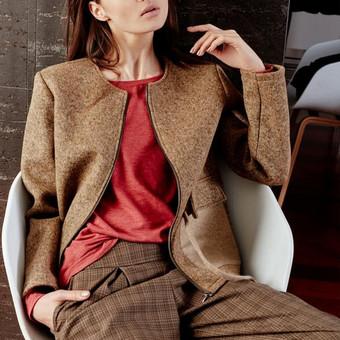 Palto siuvimas. Modelis parenkamas pagal  užsakovo pageidavimą.