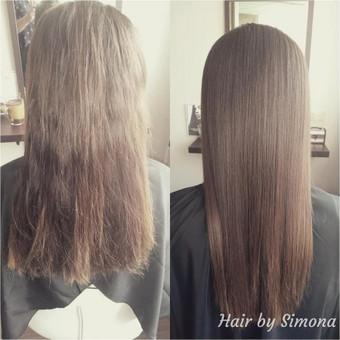 Plaukų tiesinimas ir atstatymas keratinu, plaukų poliravimas / Simona Štreimikienė / Darbų pavyzdys ID 504509