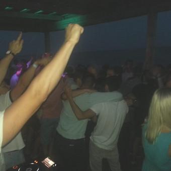Ibiza beach party moments