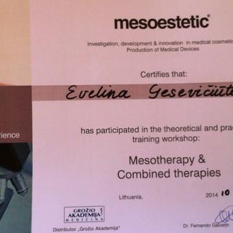 """""""Mesoestetic""""  estetinės mezoterapijos tobulinimosi kursai"""