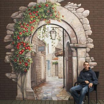Arka. Tapyba ant fasado. Autoriai: Edgaras Guršnys ir Kšyštof Četyrkovski. Privatus užsakymas, Panevėžys.