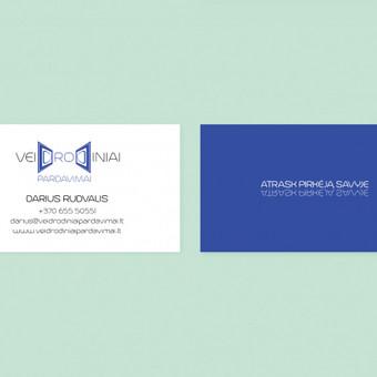 """""""Veidrodiniai pardavimai"""" vizitinė kortelė. © Tatjana Iljina"""