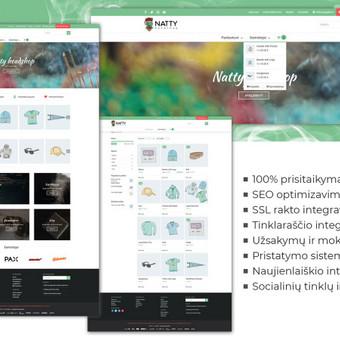 Elegantiška, funkcionali, saugi ir optimizuota internetinė parduotuvė, su visomis klientui ir naudotojui naudą teikiančiomis funkcijomis.