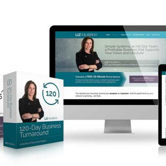 Interneto svetainės ir skaitmeninio produkto dizainas skaitmeninio marketingo lyderei JAV Liz Murphy / Grafikos dizaineris Klaipedoje - www.baltaideja.lt