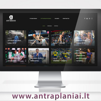 Sukurtas reprezentacinis puslapis su prekių katalogu, pritaikytas prie WordPress TVS, sukurta mobilioji svetainės versija.