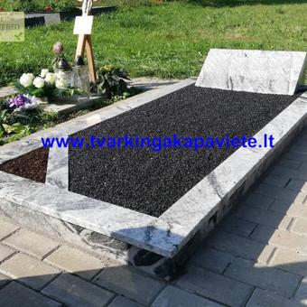 Paminklai, antkapiai, granito plokštės, kapų tvarkymas / TVARKINGA KAPAVIETĖ / Darbų pavyzdys ID 524735