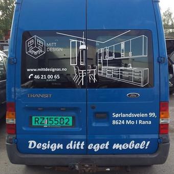 Reklama ant automobilio, lipdukų gamyba, lauko/vidaus reklam / Trigalvis.lt / Darbų pavyzdys ID 527135
