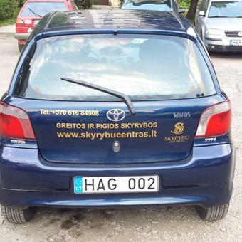Reklama ant automobilio, lipdukų gamyba, lauko/vidaus reklam / Trigalvis.lt / Darbų pavyzdys ID 527147