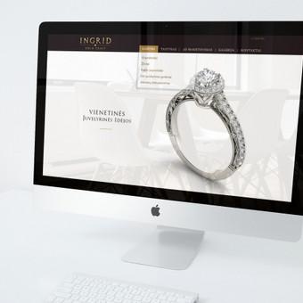 Svetainės dizainas ir logotipas juvelyrinių gaminių dirbtuvei INGRID. Reikalavimai - švarumas, lengva prabanga, minimalizmas.