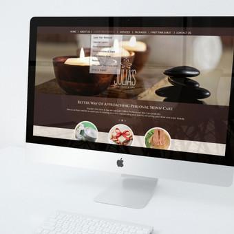 Web dizainas ir logotipas grožio palaugoms Julia's SPA.
