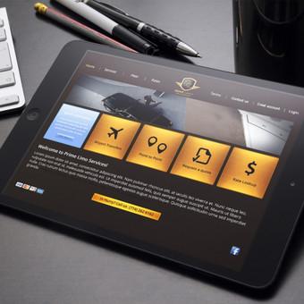 WEB dizainas automobilų užsakymui ir nuomai. Reikalavimai - patogumas naršyti planšetiniuose kompiuteriuose, lengvas valdymas, naudoti auksinius elementus.