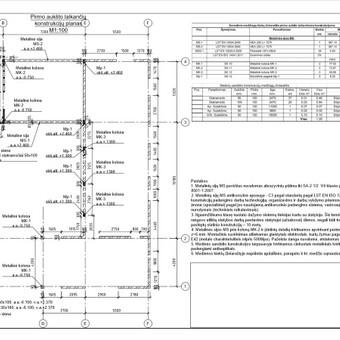 Konstrukcijų projektavimas (+KVAD atestatas) / Tomas Jakucevičius / Darbų pavyzdys ID 527449