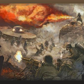 Pirmasis pasaulinis karas. Bunkerių puolimas.