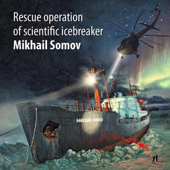 leduose įstrigęs laivas. Gelbėjimo operacija. Iliustracija
