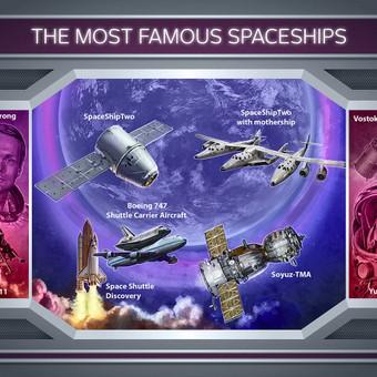 Žinomiausi kosminiai laivai.