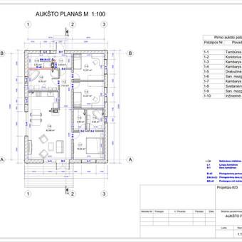 Architektas, projektavimas / RN projektai / Darbų pavyzdys ID 532979