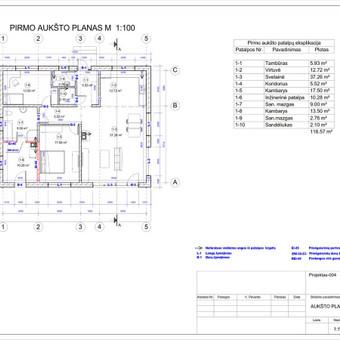 Architektas, projektavimas / RN projektai / Darbų pavyzdys ID 532999