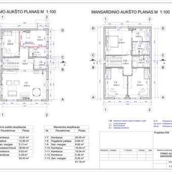 Architektas, projektavimas / RN projektai / Darbų pavyzdys ID 533011