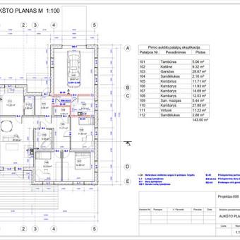 Architektas, projektavimas / RN projektai / Darbų pavyzdys ID 533025