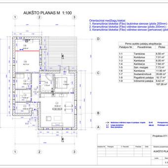 Architektas, projektavimas / RN projektai / Darbų pavyzdys ID 533043